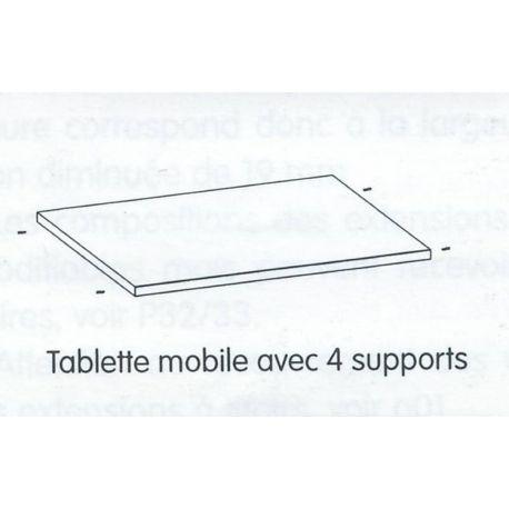 Tablette mobile pour caisson de rangement