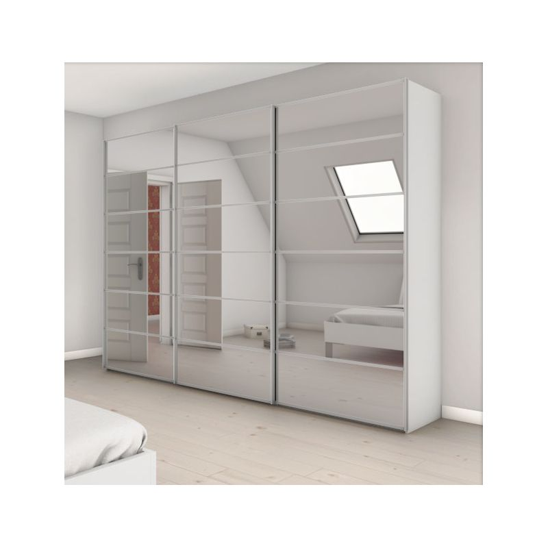armoire attraction 4 3 portes coulissantes achat en ligne. Black Bedroom Furniture Sets. Home Design Ideas