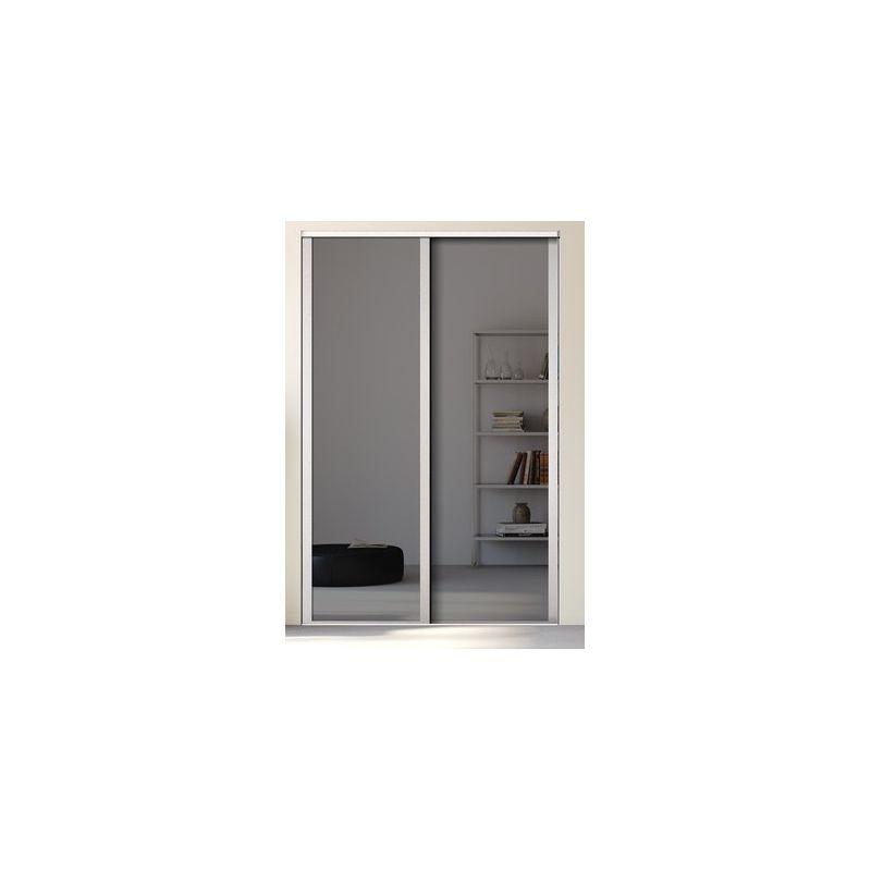 Porte placard miroir sur mesure for Miroir sur mesure pas cher