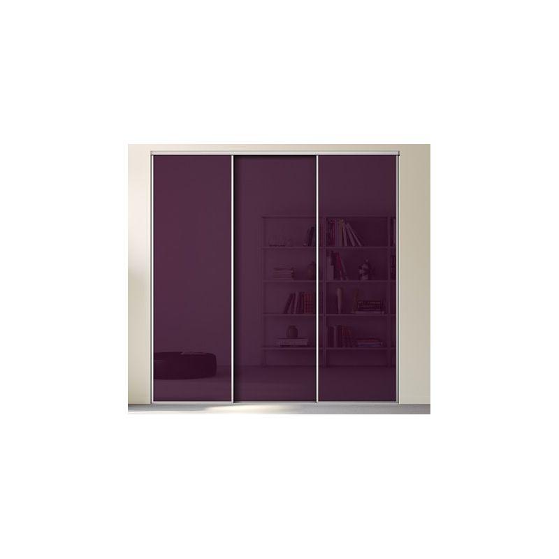 Kazed 3 portes esquisse verre laqu achat en ligne for Porte placard verre laque