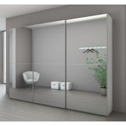 Amoire miroir gris
