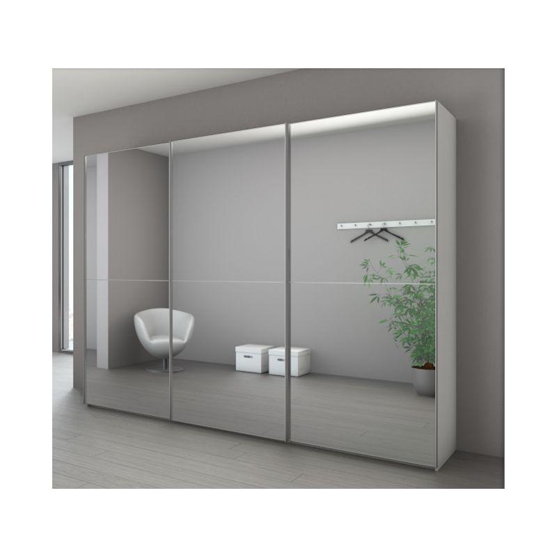 armoire marcato 2 3 portes coulissantes achat en ligne. Black Bedroom Furniture Sets. Home Design Ideas