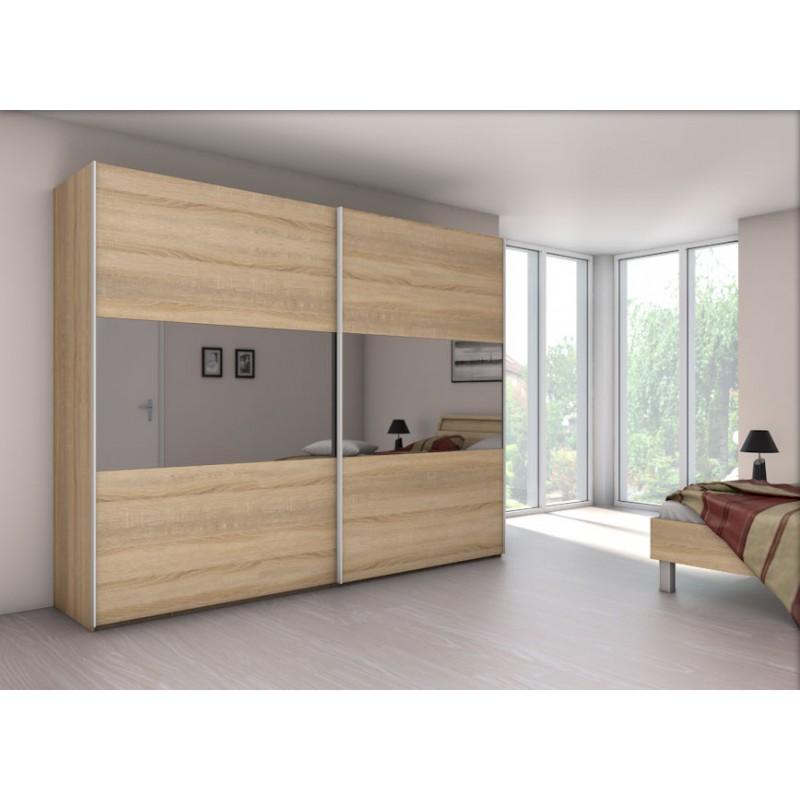 Armoire velia 2b 2 portes coulissantes achat en ligne for Armoire nolte prix