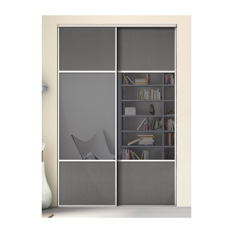 portes coulissantes de placard karacter 2 miroir et effet. Black Bedroom Furniture Sets. Home Design Ideas