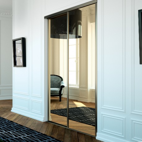 portes de placard coulissantes miroir bronze achat en ligne. Black Bedroom Furniture Sets. Home Design Ideas