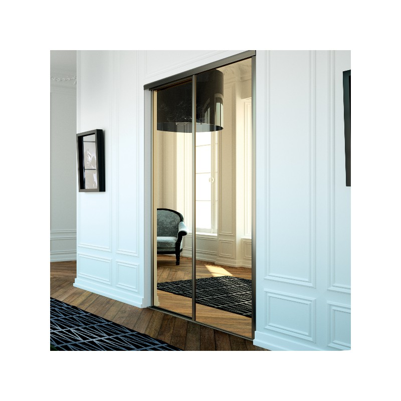 best portes de placard coulissante kazed miroir bronze with porte placard pliante avec miroir. Black Bedroom Furniture Sets. Home Design Ideas