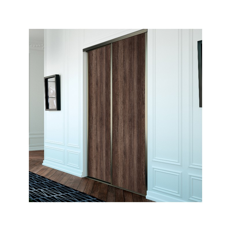 Portes de placard coulissante traditionnel noyer des andes for Porte de placard