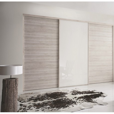 portes coulissantes kabourg naturel et laqu blanc achat. Black Bedroom Furniture Sets. Home Design Ideas