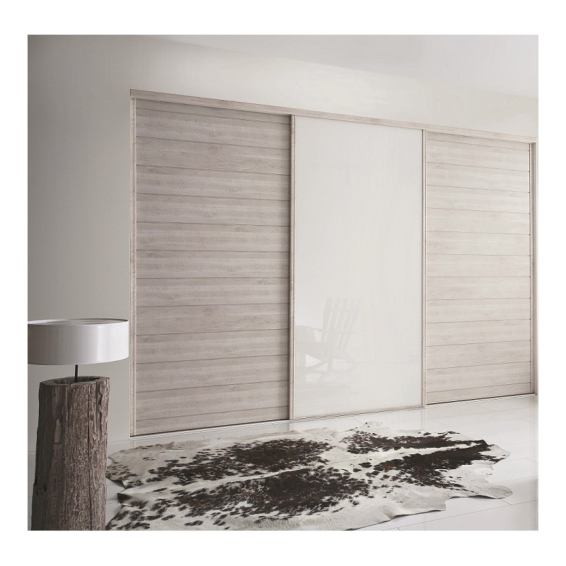 portes coulissantes kabourg naturel et laqu blanc achat en ligne. Black Bedroom Furniture Sets. Home Design Ideas