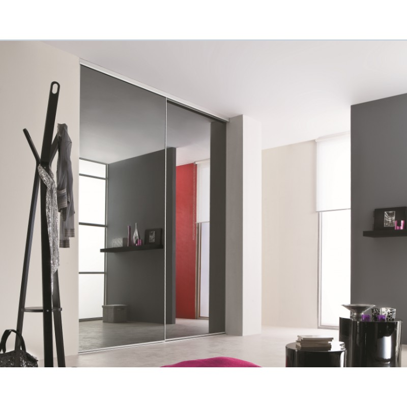 placard coulissant excellent placard coulissant avec porte en bois et miroir with placard. Black Bedroom Furniture Sets. Home Design Ideas