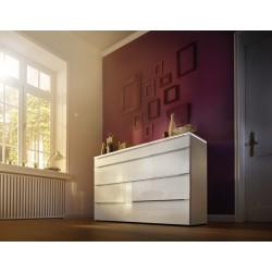 Commode NOLTE ALEGRO Style miroir gris avec plateau LED