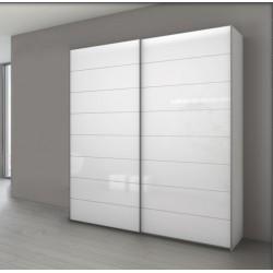 Armoire à 2 portes coulissantes en verre blanc MARCATO 4