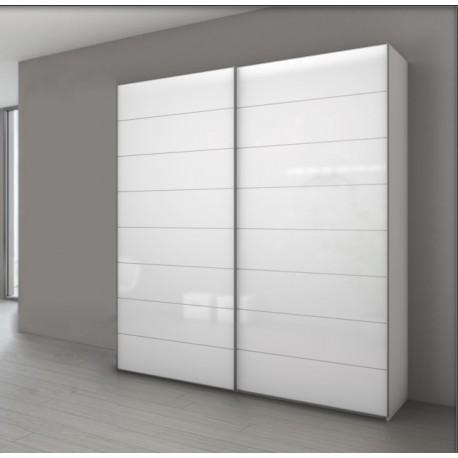 Armoire Marcato 4 à 2 Portes Coulissantes Verre Blanc Achat En Ligne