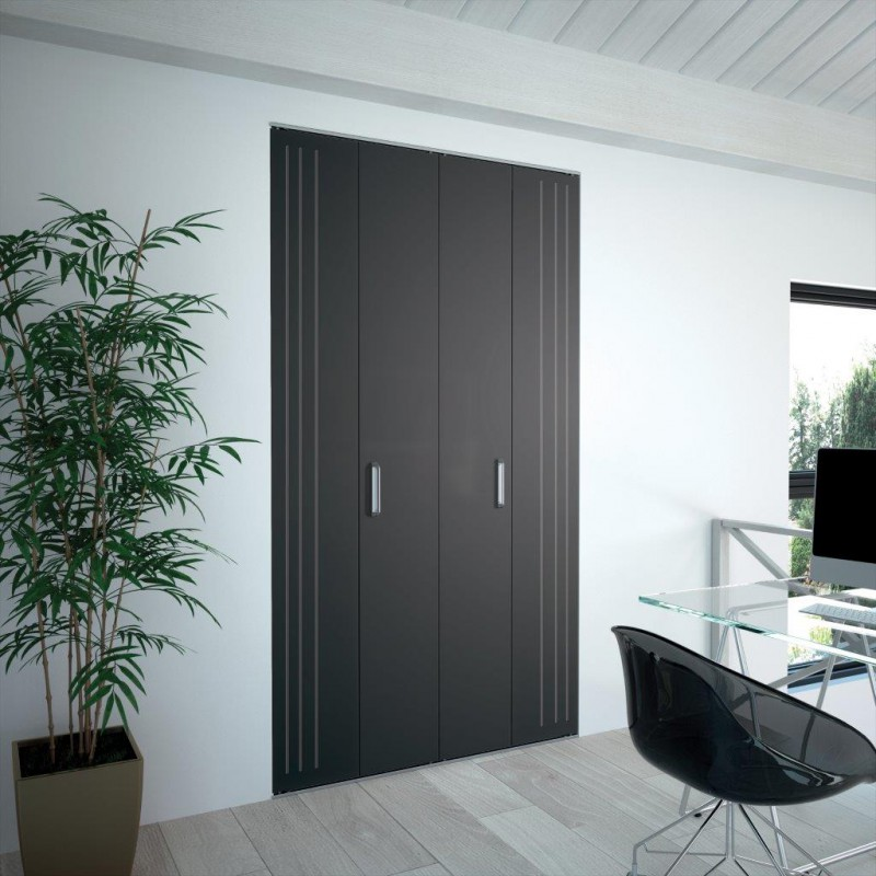 Portes de placard kazed pliante m tallique for Decoration porte kazed