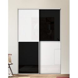 Portes coulissantes de placard karma 1 m la acacia clair for Decoration porte kazed