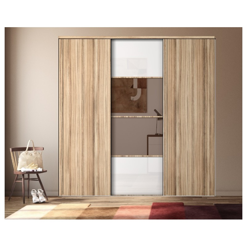 portes coul de placard karacter 3 verre bl miroir bronze panama. Black Bedroom Furniture Sets. Home Design Ideas
