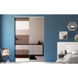 portes coullissantes de placard  laqué blanc mat 2300x1800