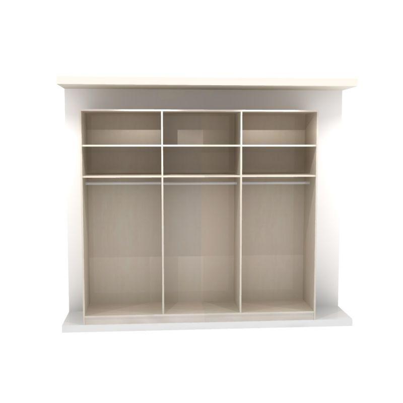 armoire marcato 6 3 portes coulissantes achat en ligne. Black Bedroom Furniture Sets. Home Design Ideas