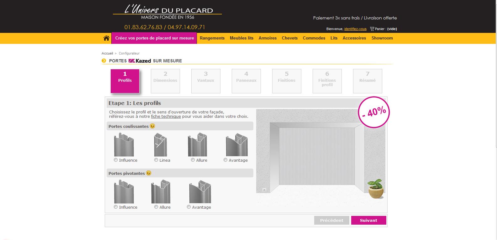 nouveau le configurateur kazed 2d blog univers du placard. Black Bedroom Furniture Sets. Home Design Ideas
