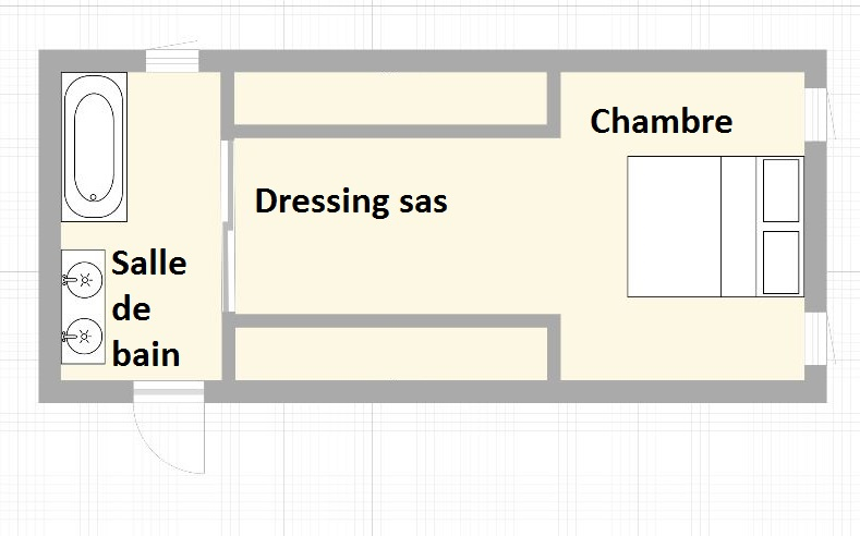 Un dressing sas blog univers du placard for Plan dressing chambre