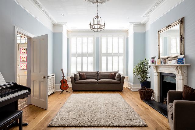 Photographie de l'intérieur d'une maison moderne.